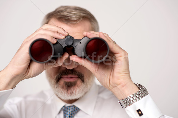 Stock photo: I can get a clear view now
