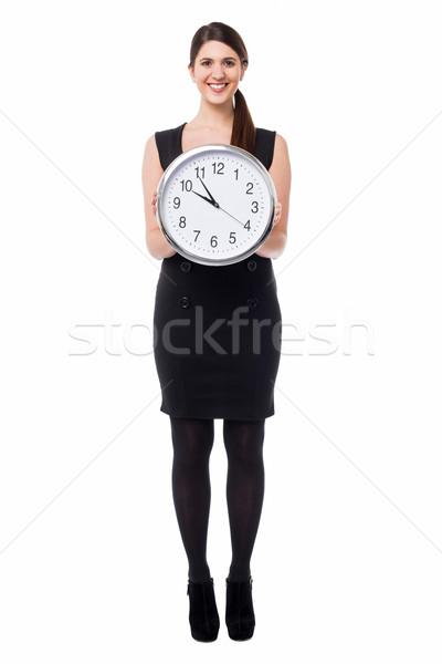 служба пять минута улыбаясь модный женщину Сток-фото © stockyimages