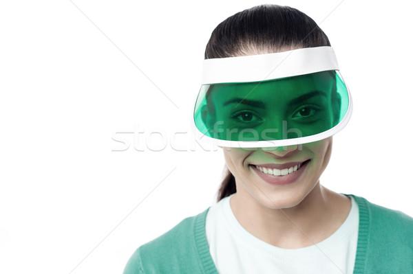 My new sun visor. Stock photo © stockyimages