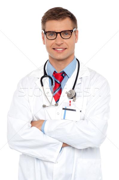 Aantrekkelijk portret mannelijke arts poseren man Stockfoto © stockyimages