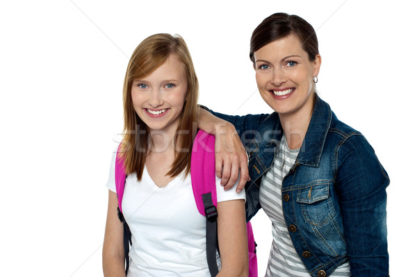 Senior and junior college colleagues Stock photo © stockyimages