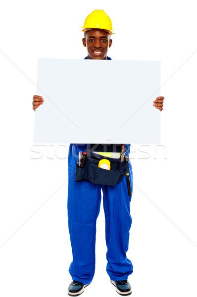 Foto stock: Africano · quadro · de · avisos · tiro