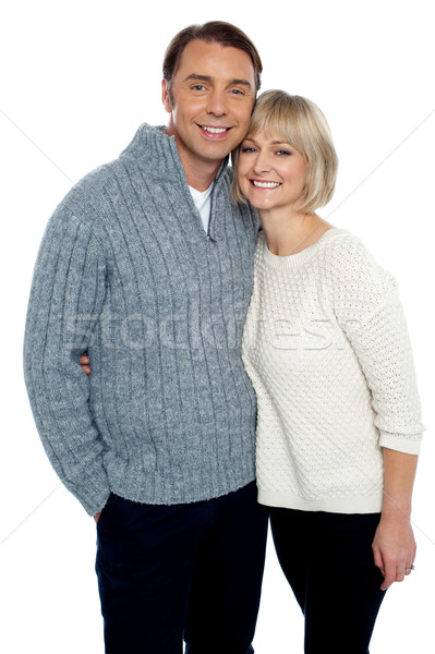 Love couple feeling the warmth of each other Stock photo © stockyimages