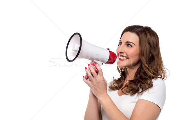 Attention please, good news to you all ! Stock photo © stockyimages