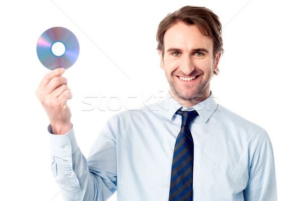 Manager showing compact disc Stock photo © stockyimages