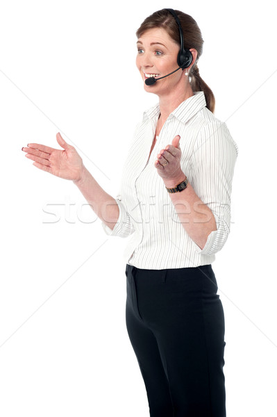 Female customer support executive Stock photo © stockyimages