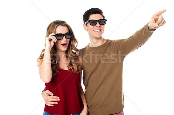Stock photo: Darling, look at that, it's so cool.