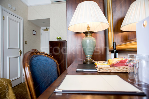 Interior of a table in a hotel room Stock photo © stockyimages