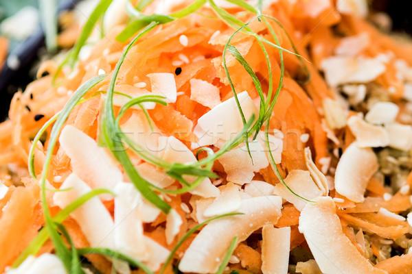 Carota insalata shot vegan ristorante Foto d'archivio © stockyimages