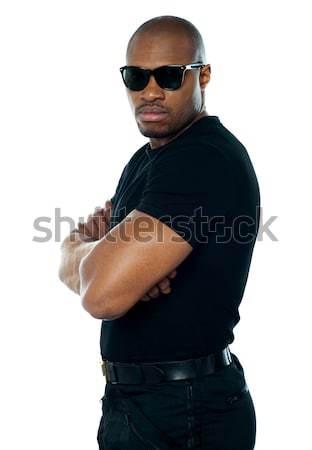 Portret wywiadowca stałego ręce fałdowy biały Zdjęcia stock © stockyimages