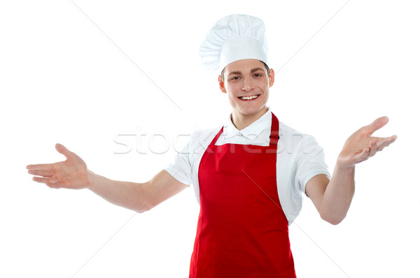 Handsome carefree male chef Stock photo © stockyimages