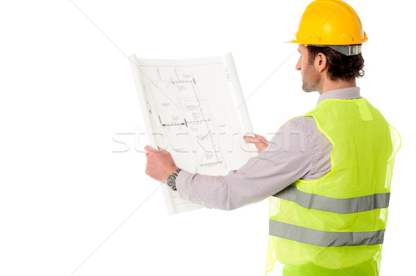 Young civil engineer at work Stock photo © stockyimages