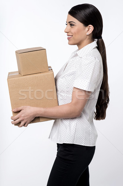 Here is your parcels is sir ! Stock photo © stockyimages