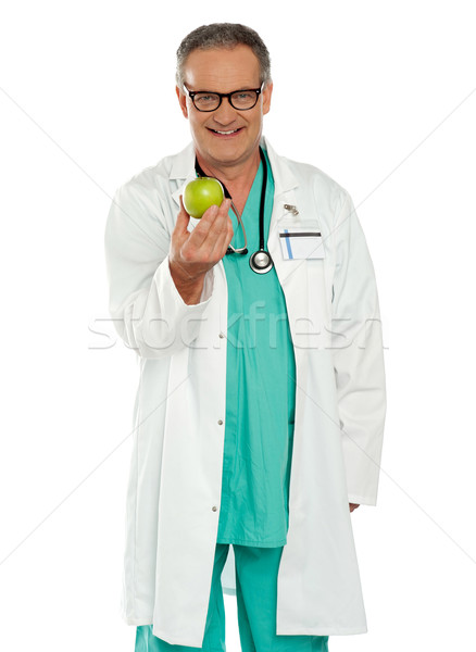 An apple a day keeps the doctor away Stock photo © stockyimages