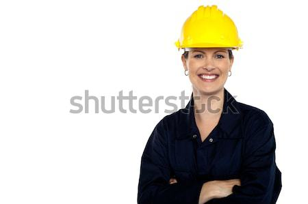 Beaming construction worker. Cheerful portrait Stock photo © stockyimages