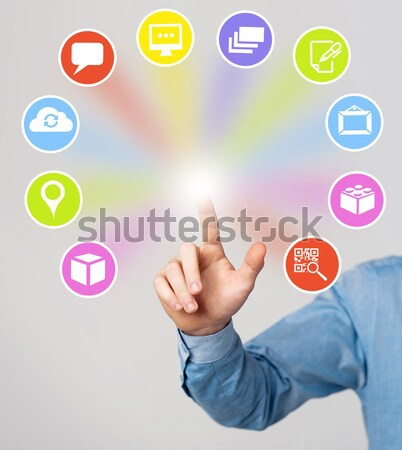 Media and communication icons Stock photo © stockyimages