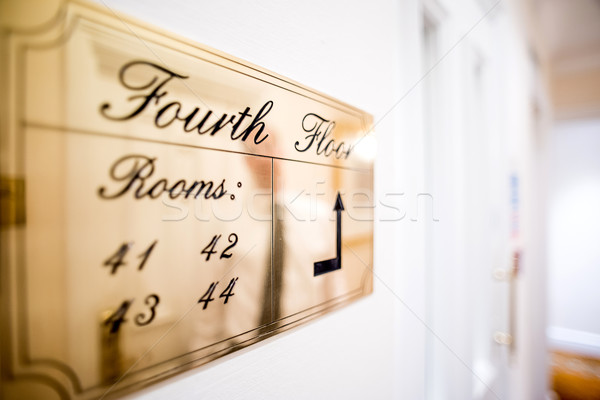 Travel image of a hotel corridor  Stock photo © stockyimages