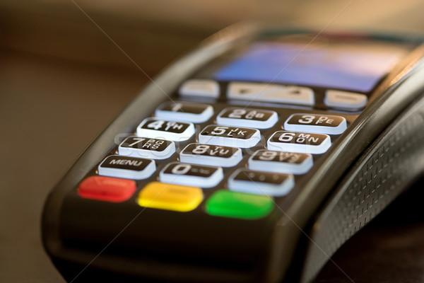 Carta di credito macchina soldi sicurezza elettronica Foto d'archivio © stockyimages
