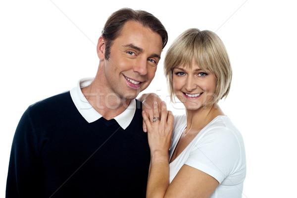 Sonriendo marido esposa romántica plantean Foto stock © stockyimages