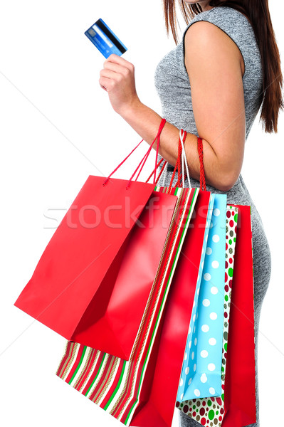 Fashionable woman, shopping concept Stock photo © stockyimages