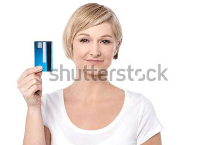 Choose the new gold credit card.  Stock photo © stockyimages