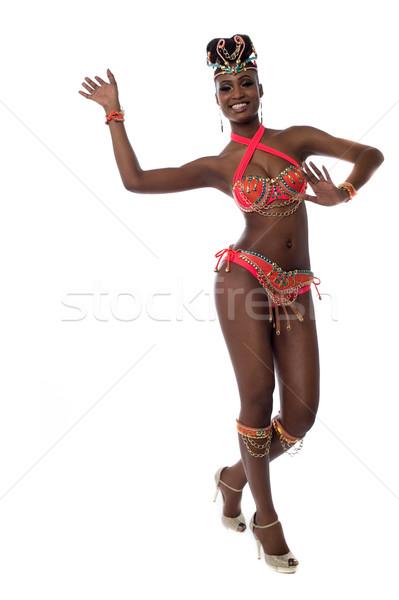 Karnevál idő tánc derűs szamba nő Stock fotó © stockyimages