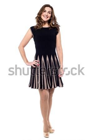 Zdjęcia stock: Wygląd · elegancki · kobieta · stwarzające · spódnica