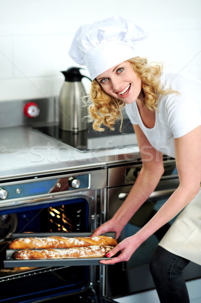 Get ready for some yummy baguette Stock photo © stockyimages