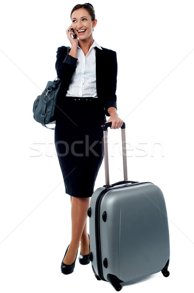 Hey I have a flight to catch, bye for now! Stock photo © stockyimages
