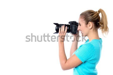 Smile Please; Time for a snap! Stock photo © stockyimages
