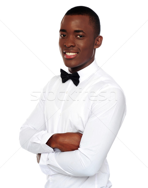 African gentleman posing with crossed arms Stock photo © stockyimages