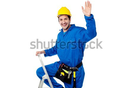 Keep up the good work. Repairman gesturing Stock photo © stockyimages