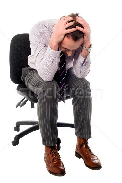 Grande errore uomo testa frustrazione Foto d'archivio © stockyimages