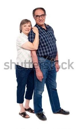 Foto d'archivio: Coppie · holding · hands · piedi · bianco · donna