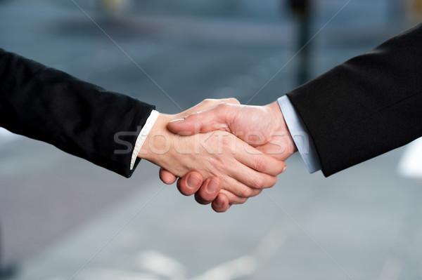 Foto stock: Negocios · apretón · de · manos · acuerdo · exitoso · gente · de · negocios · apretón · de · manos