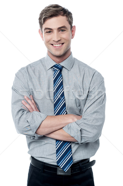 Smiling male corporate executive  Stock photo © stockyimages