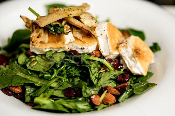 Gegrild geitenkaas salade smakelijk blad hotel Stockfoto © stockyimages