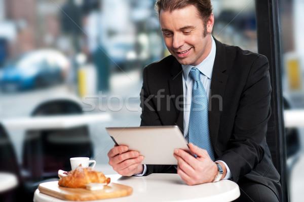 Affaires exécutif ouvrir restaurant entreprise Homme Photo stock © stockyimages