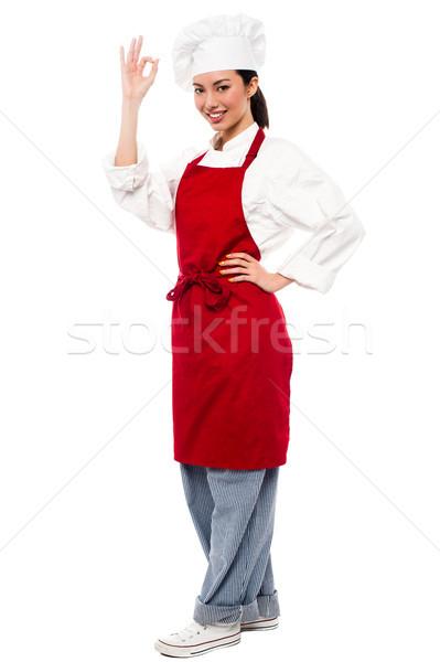 Photo stock: Wow · délicieux · parfait · souriant · Homme · chef