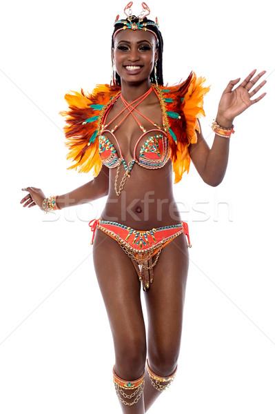 ünnepel karnevál engem derűs gyönyörű nő szamba Stock fotó © stockyimages