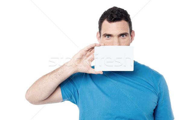 Сток-фото: контакт · мне · охватывать · лице · пустую · карту