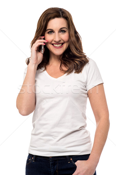 Stock photo: Hi darling, how are you ?