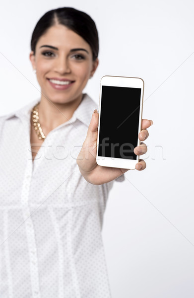 Featured cell phone on sale now ! Stock photo © stockyimages