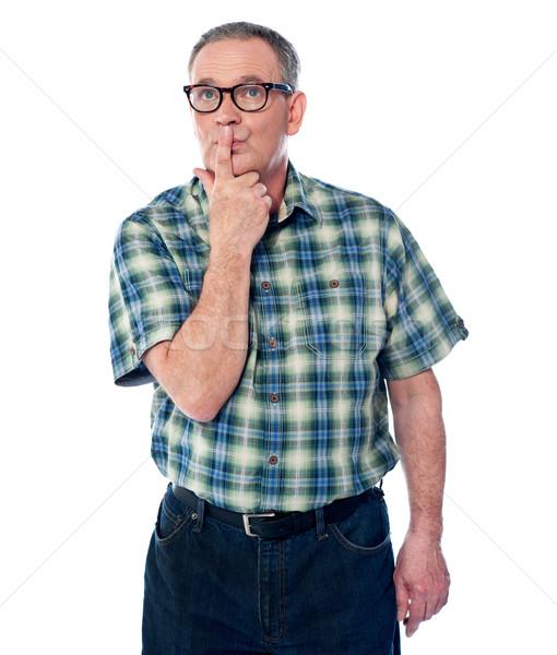 Velho sábio cara pensando Foto stock © stockyimages