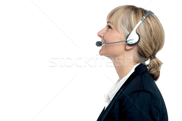 Customer are executive engaged in jovial conversation Stock photo © stockyimages