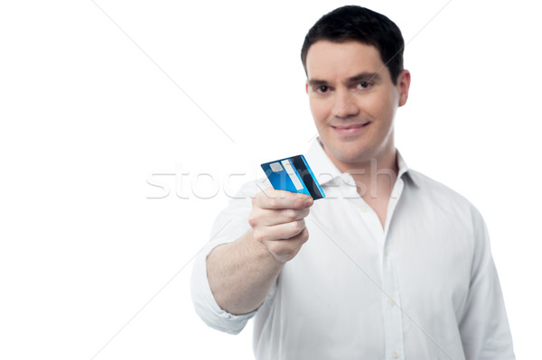 Take my cash card for shopping. Stock photo © stockyimages