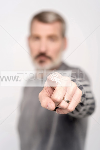 www written in search bar on virtual screen Stock photo © stockyimages