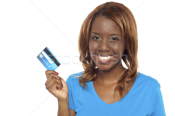 Lets shop and swap the credit card Stock photo © stockyimages