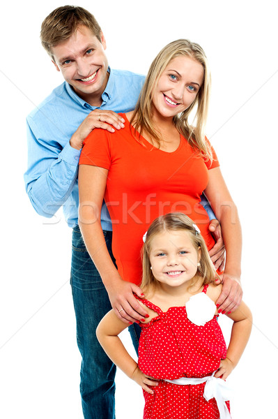 Snap shot of a complete family Stock photo © stockyimages