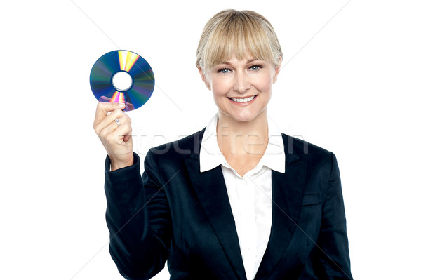 Stock photo: We store data in password protected dvd